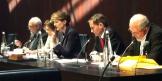 Podium der Parlamentarischen Gruppe Schweiz-EU